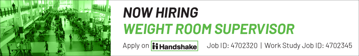 now hiring fitness summer weight room supervisors information